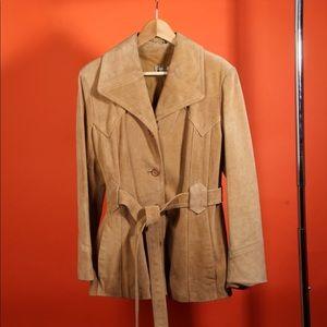 Vintage 70's Leather Suede Coat